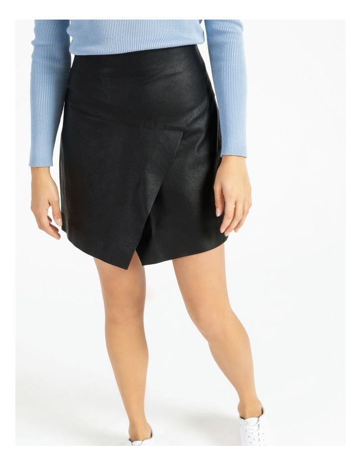 Faux Leather Asymmetrical Mini Skirt image 5