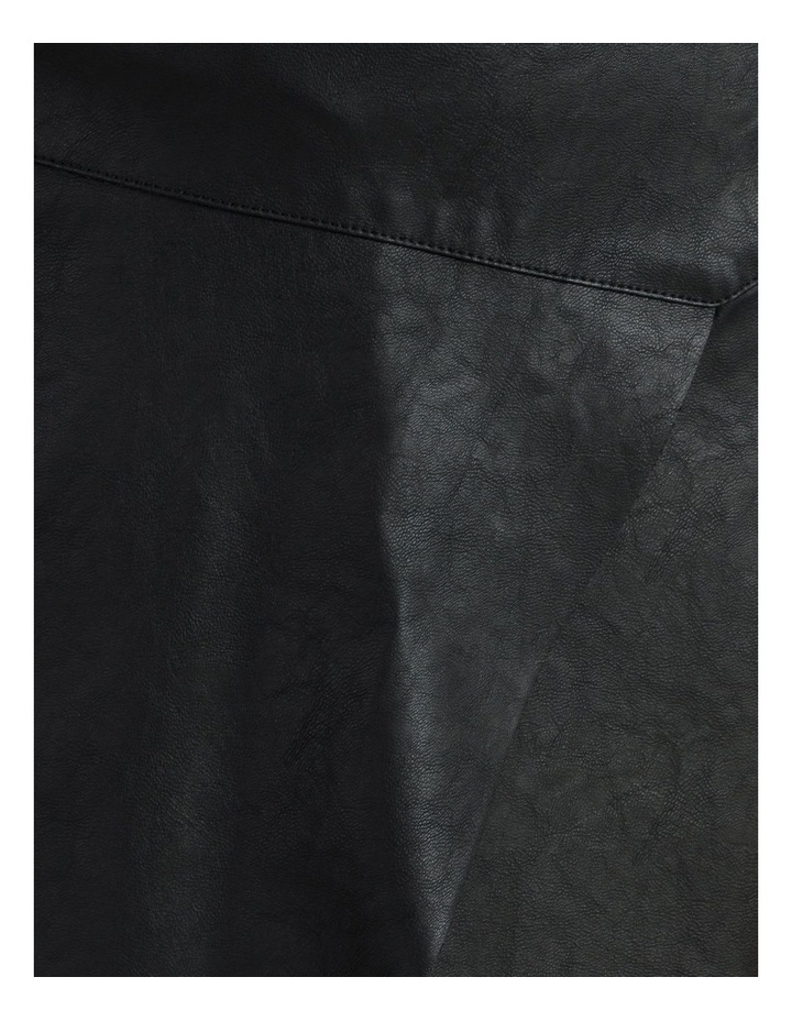 Faux Leather Asymmetrical Mini Skirt image 6