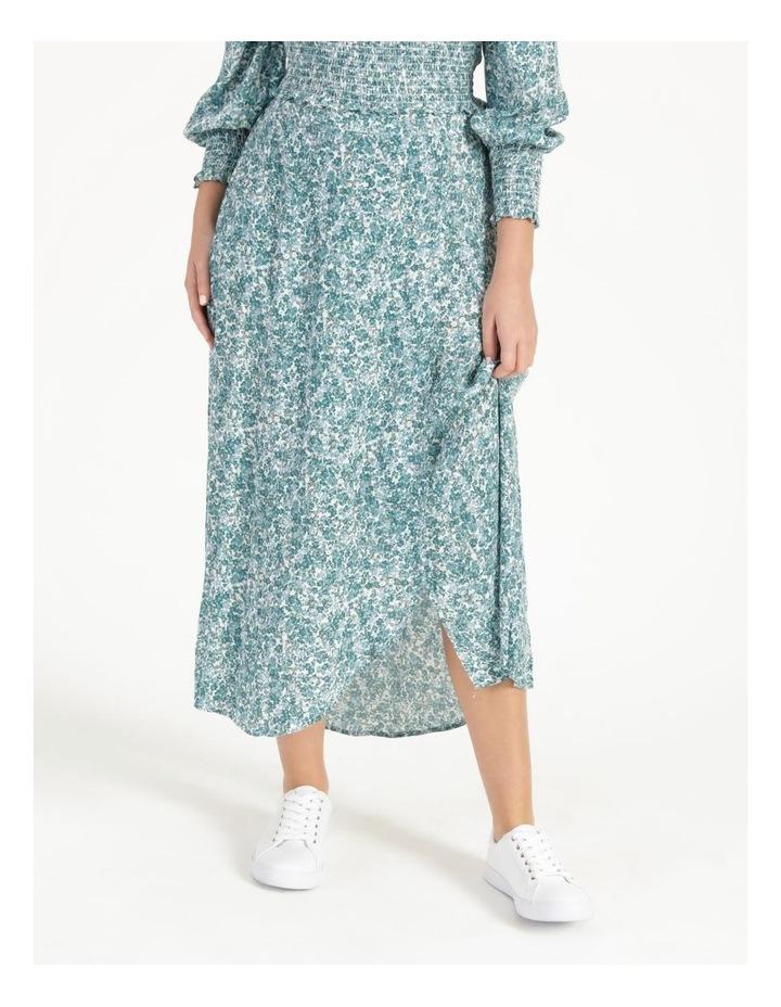 Petite Aline Printed Wrap Midi Skirt image 1