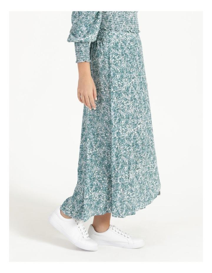 Petite Aline Printed Wrap Midi Skirt image 3