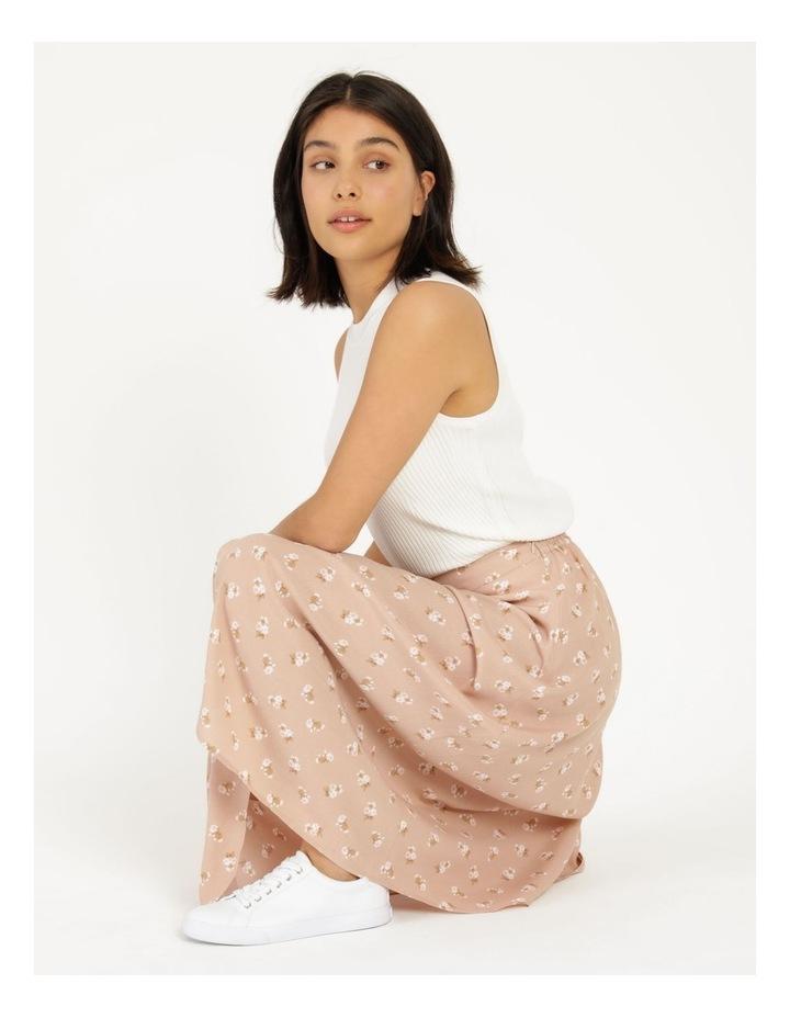 Aline Blush Bouquet Printed Wrap Midi Skirt image 2