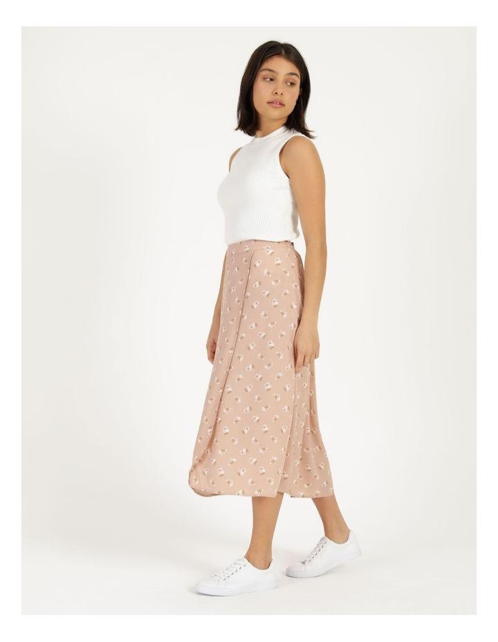 Aline Blush Bouquet Printed Wrap Midi Skirt image 4