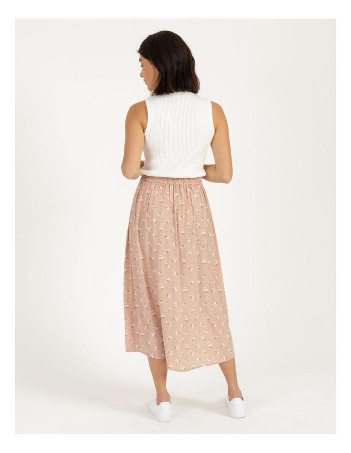 Aline Blush Bouquet Printed Wrap Midi Skirt image 5