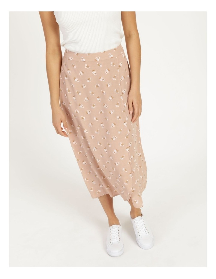 Aline Blush Bouquet Printed Wrap Midi Skirt image 6
