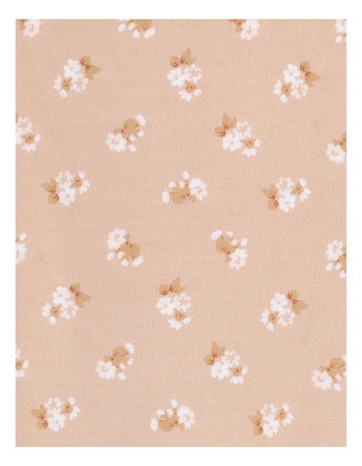 Aline Blush Bouquet Printed Wrap Midi Skirt image 7