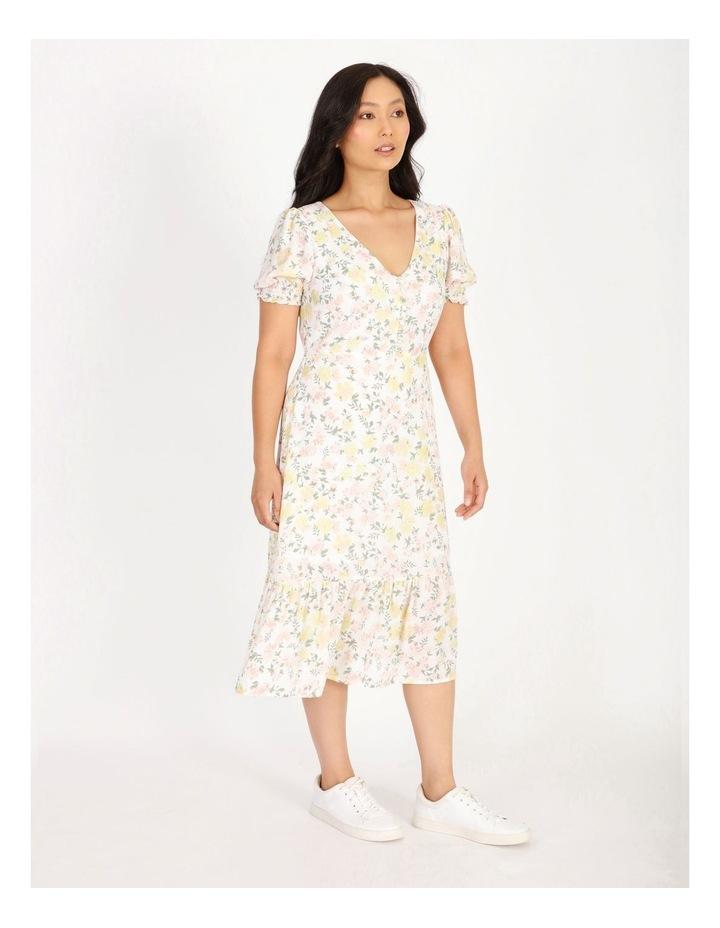 Petite Puff Sleeve Tea Dress image 2