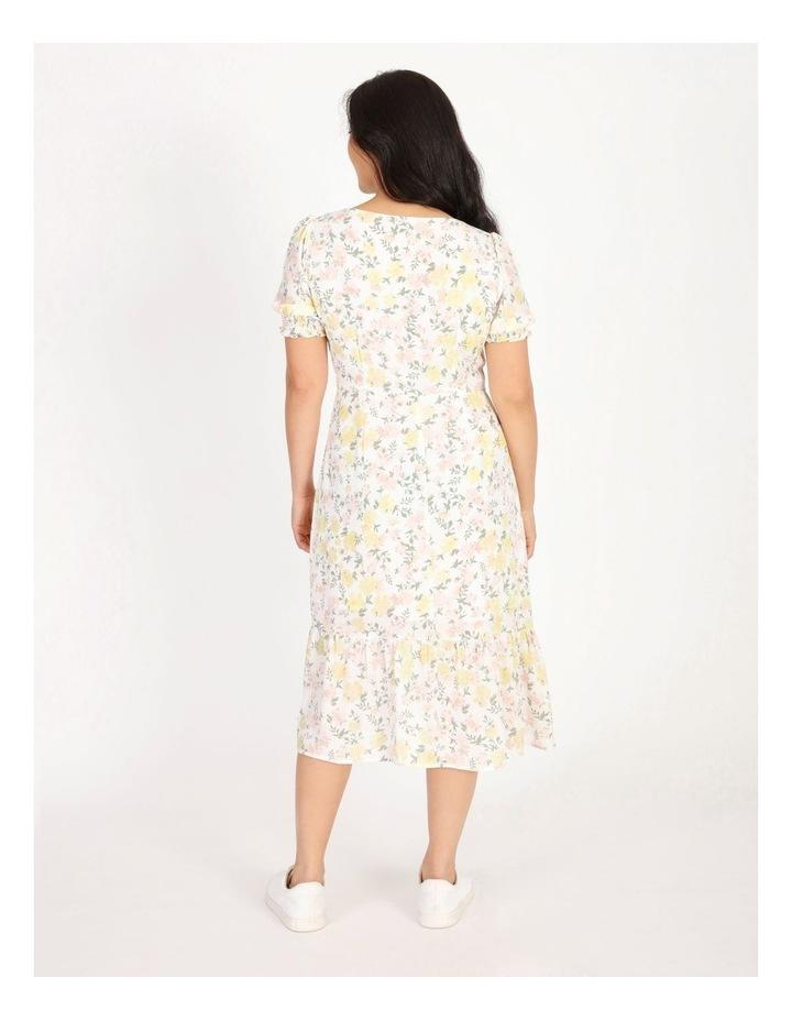 Petite Puff Sleeve Tea Dress image 3