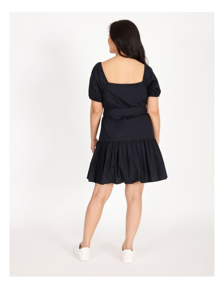 Petites Cotton Poplin Puff Sleeve Mini Dress image 3