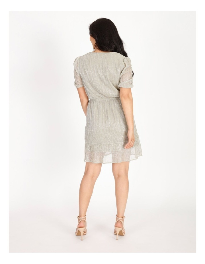 Petite Metallic Plisse Mini Dress image 3