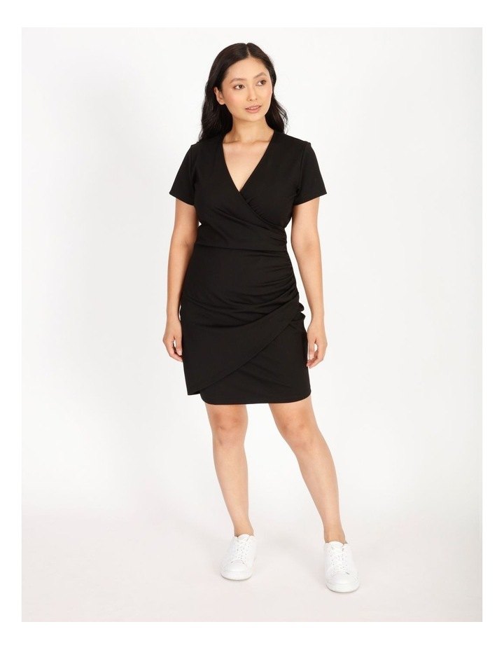 Petite Wrap Front Jersey Mini Dress image 1