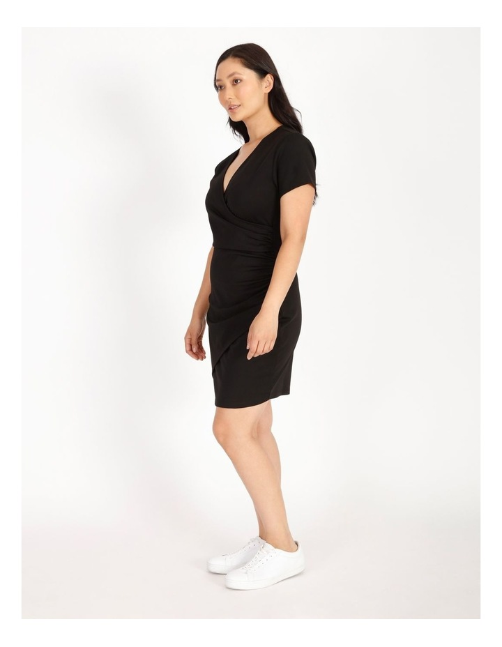 Petite Wrap Front Jersey Mini Dress image 2