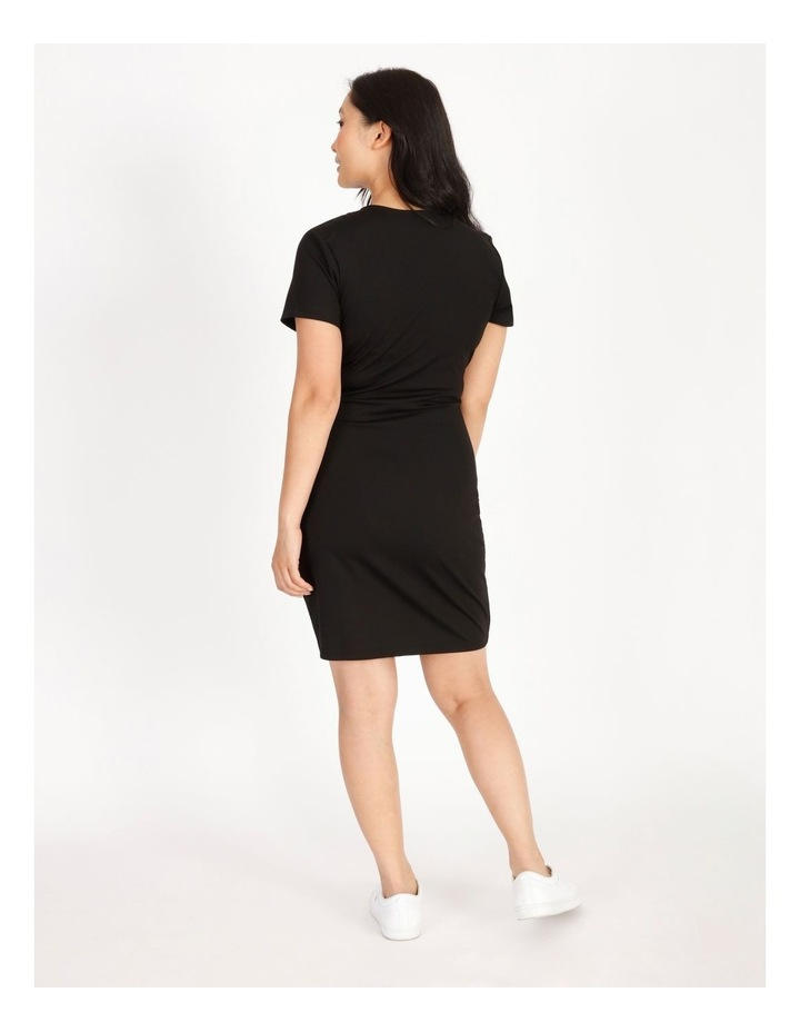 Petite Wrap Front Jersey Mini Dress image 3