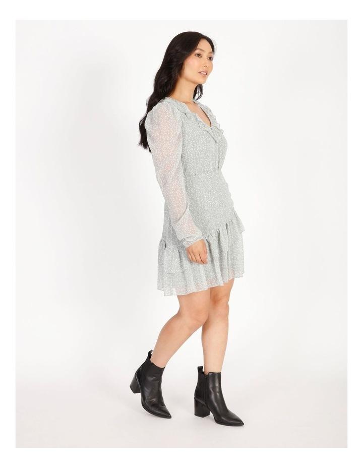 Petite Ruffle Wrap Mini Dress image 2