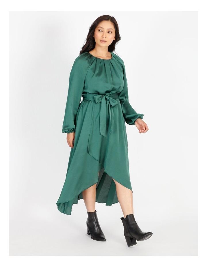Petite Satin Wrap Midi Dress image 2