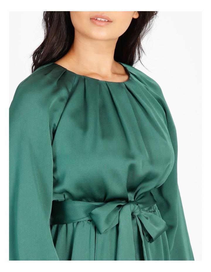 Petite Satin Wrap Midi Dress image 4