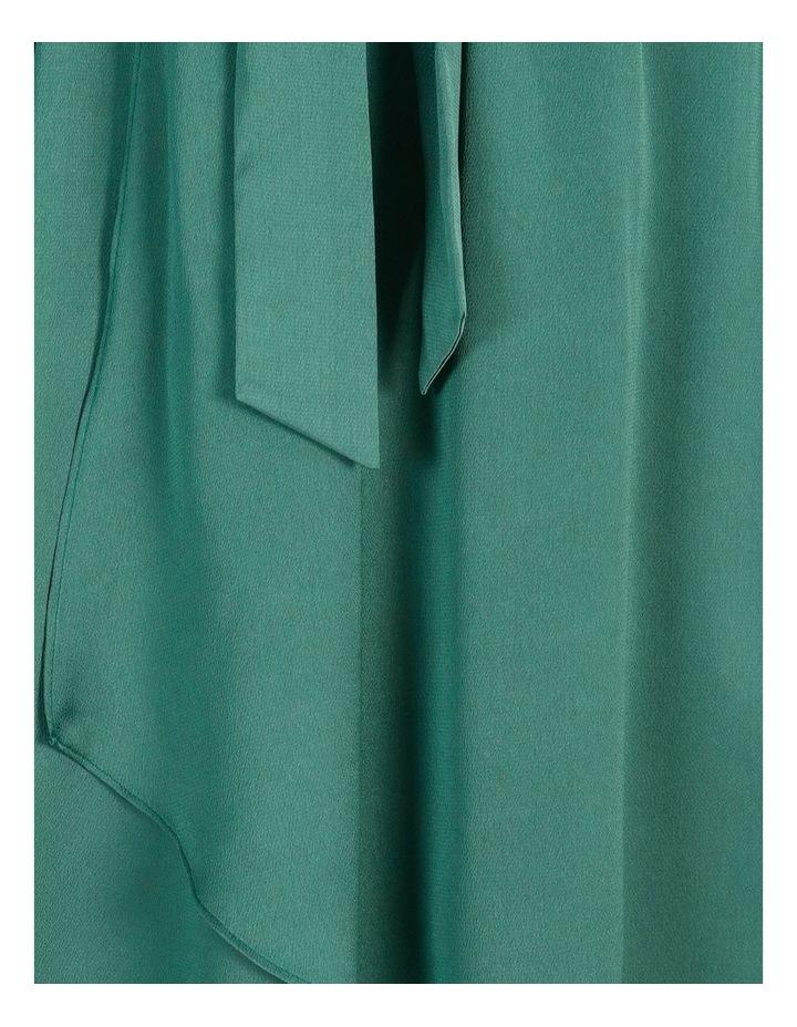 Petite Satin Wrap Midi Dress image 6