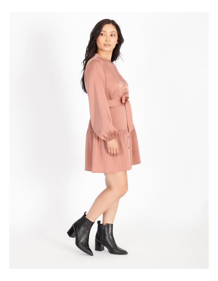 Petite Satin Mini Shirt Dress image 2