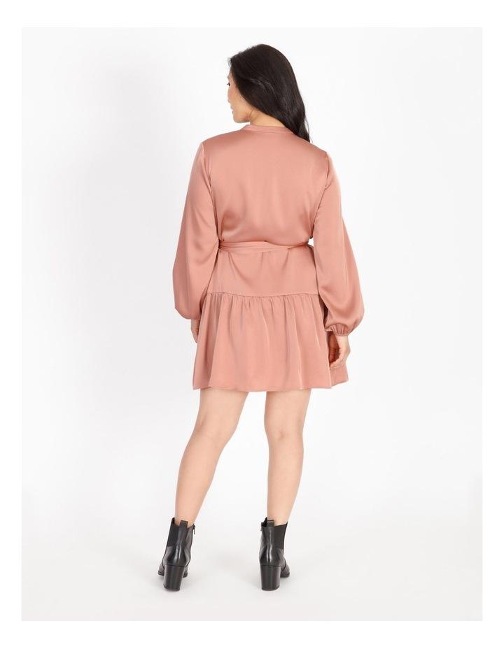 Petite Satin Mini Shirt Dress image 3
