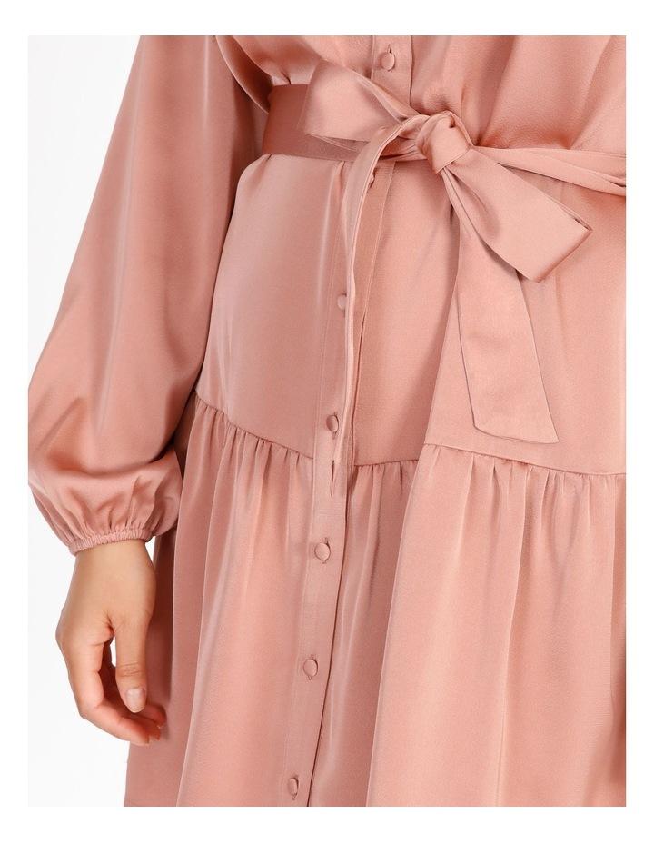 Petite Satin Mini Shirt Dress image 4