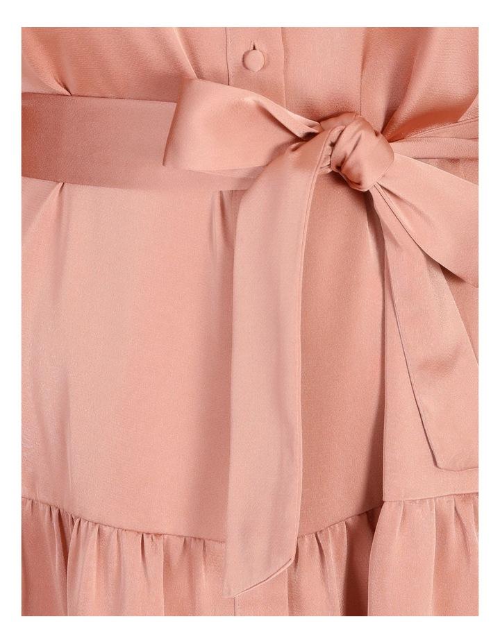 Petite Satin Mini Shirt Dress image 5