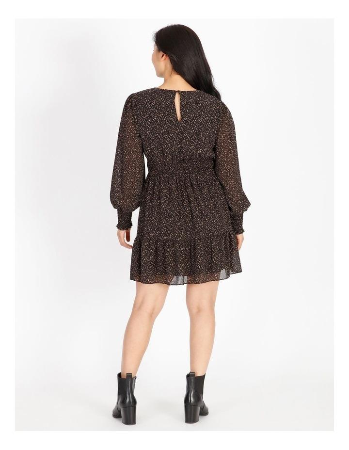 Petite Shirred Long Sleeve Mini Dress image 3