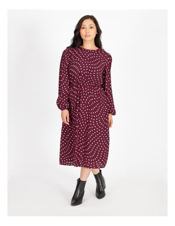 Blouson-Sleeve Midi Dress image 1