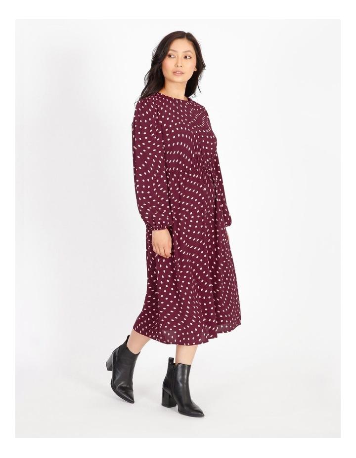 Blouson-Sleeve Midi Dress image 2
