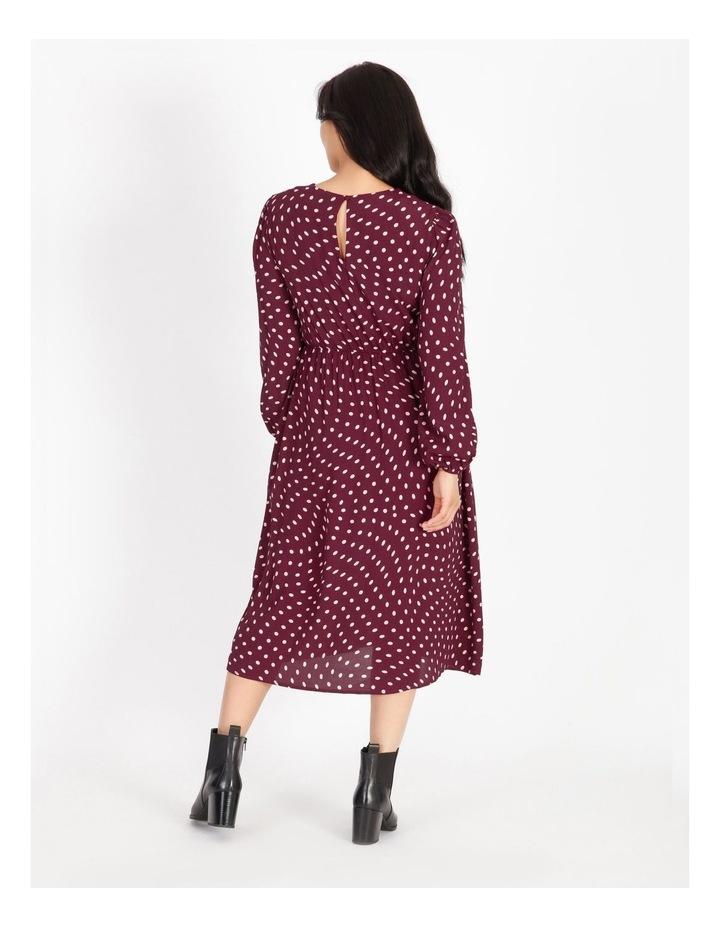 Blouson-Sleeve Midi Dress image 3