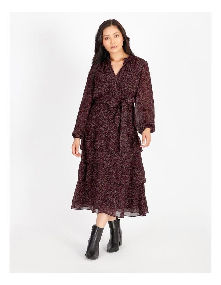 Tiered Ditzy Midi Dress image 1