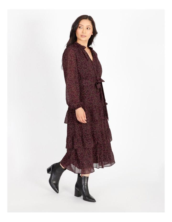 Tiered Ditzy Midi Dress image 2