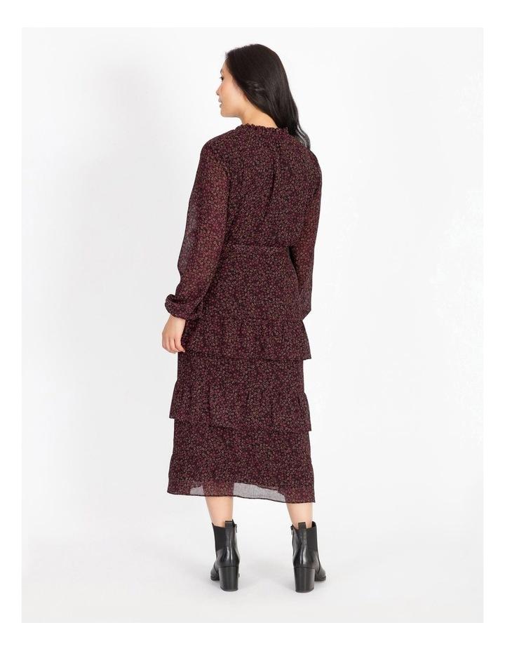 Tiered Ditzy Midi Dress image 3