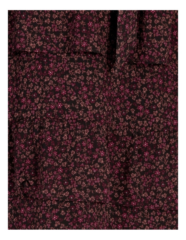 Tiered Ditzy Midi Dress image 6