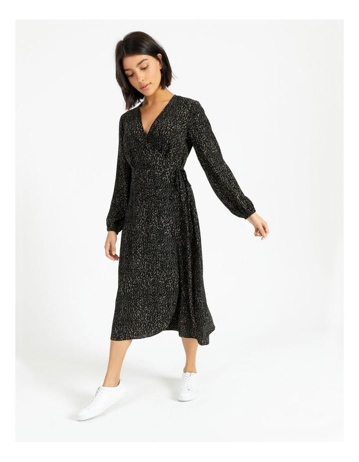 Blouson Sleeve Wrap Dress image 1