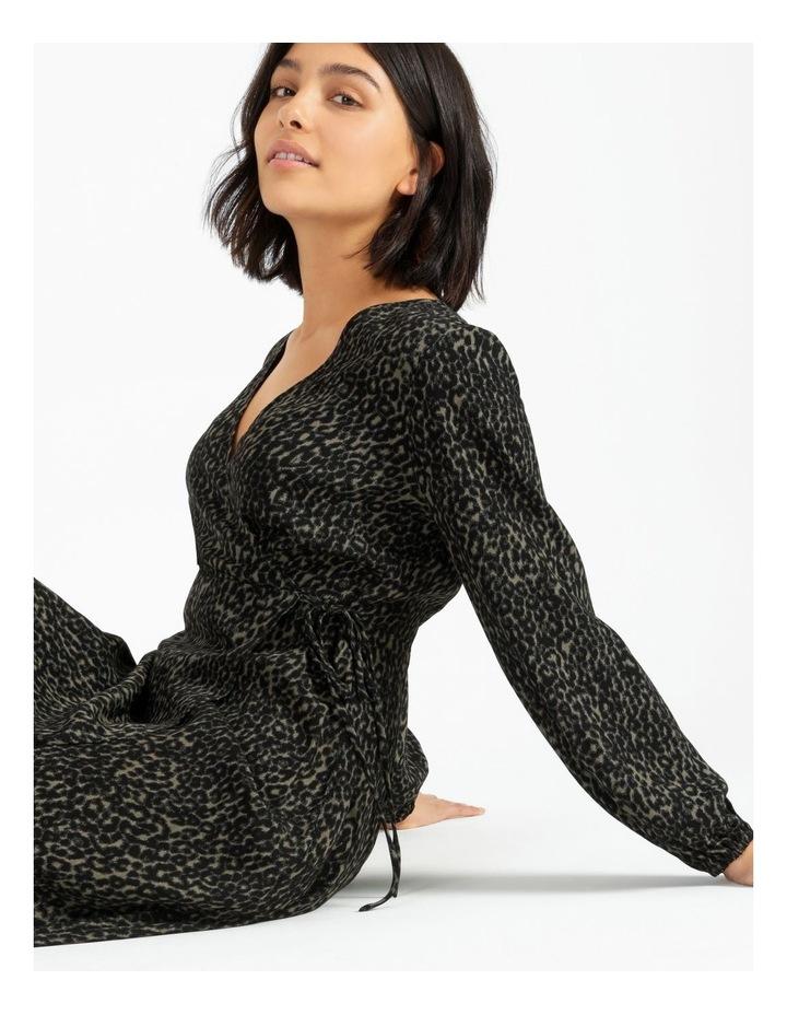Blouson Sleeve Wrap Dress image 2