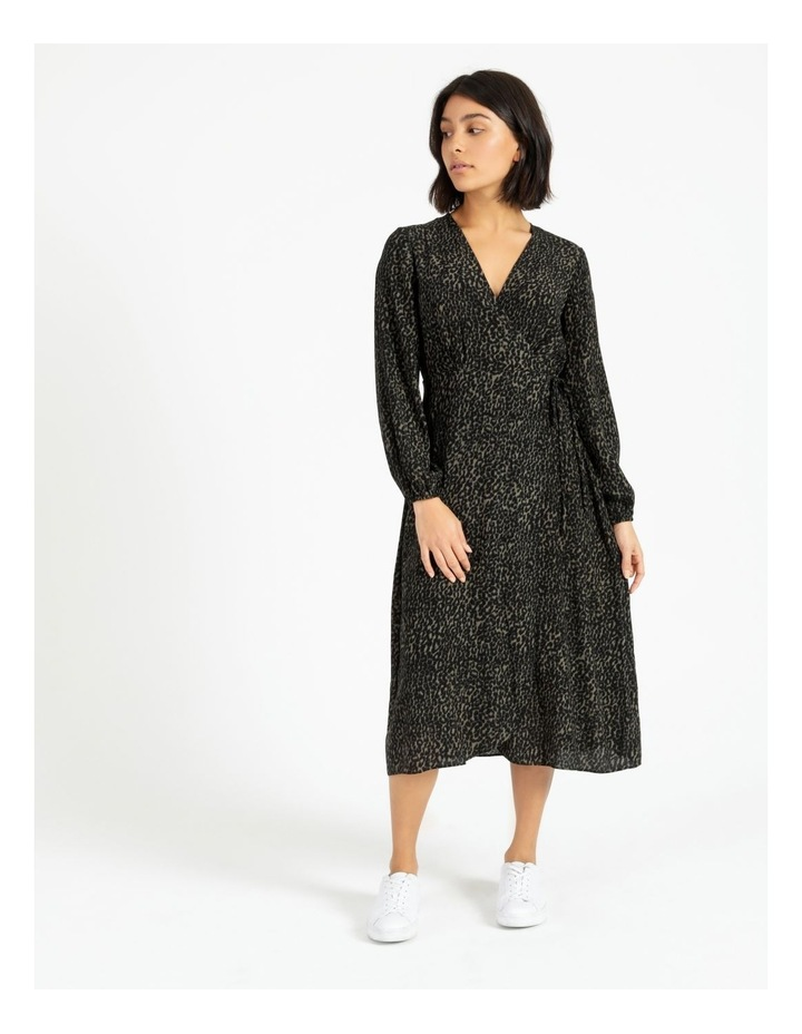Blouson Sleeve Wrap Dress image 3