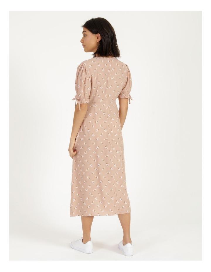 Puff Tie Sleeve Wrap Midi Dress image 5