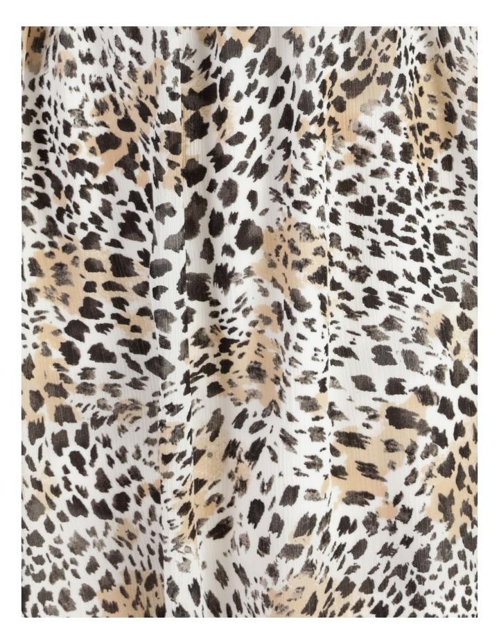 Flutter Sleeve Midi Dress Leopard Print image 6