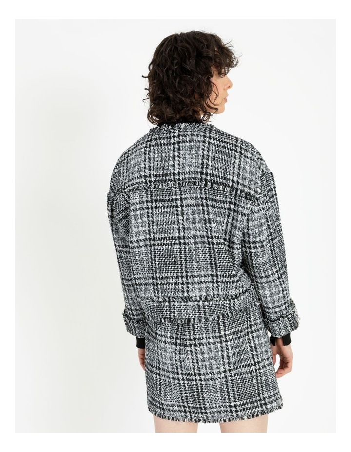 Tweed Check Black/White Bomber Jacket image 4