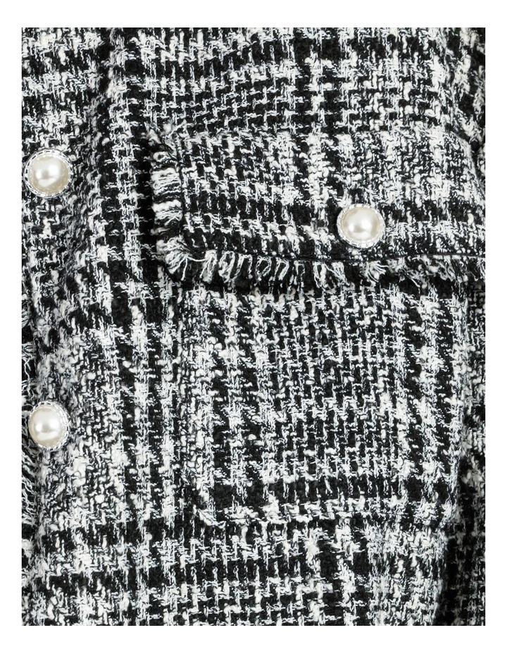 Tweed Check Black/White Bomber Jacket image 6
