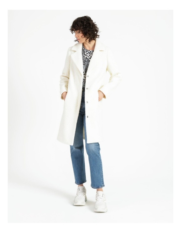 Statement Neautral Shearling Coat image 1