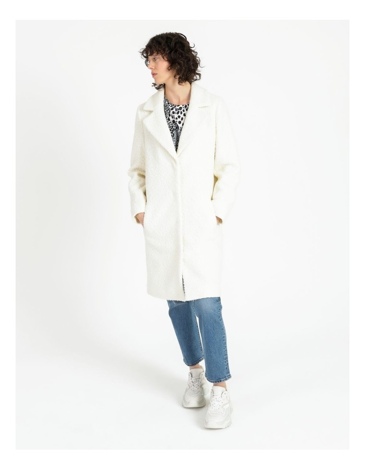 Statement Neautral Shearling Coat image 3