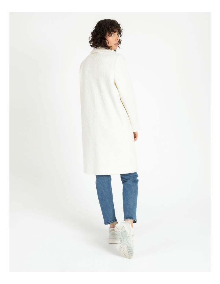 Statement Neautral Shearling Coat image 5