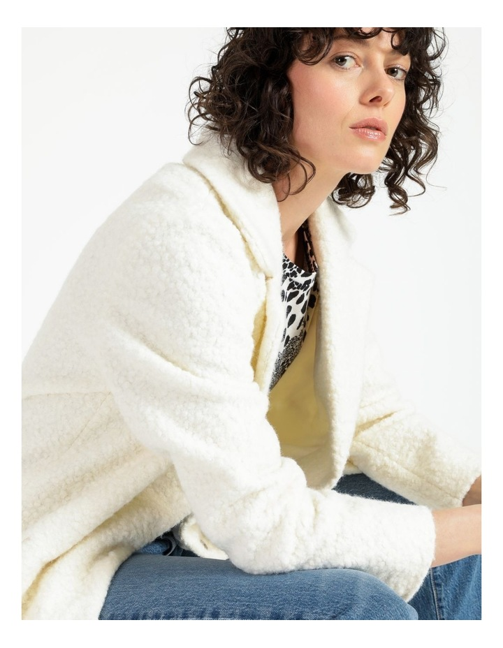 Statement Neautral Shearling Coat image 6