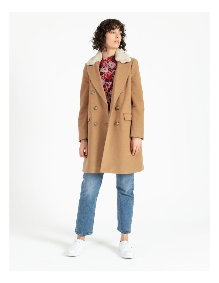 Camel Double Breasted Coat image 1