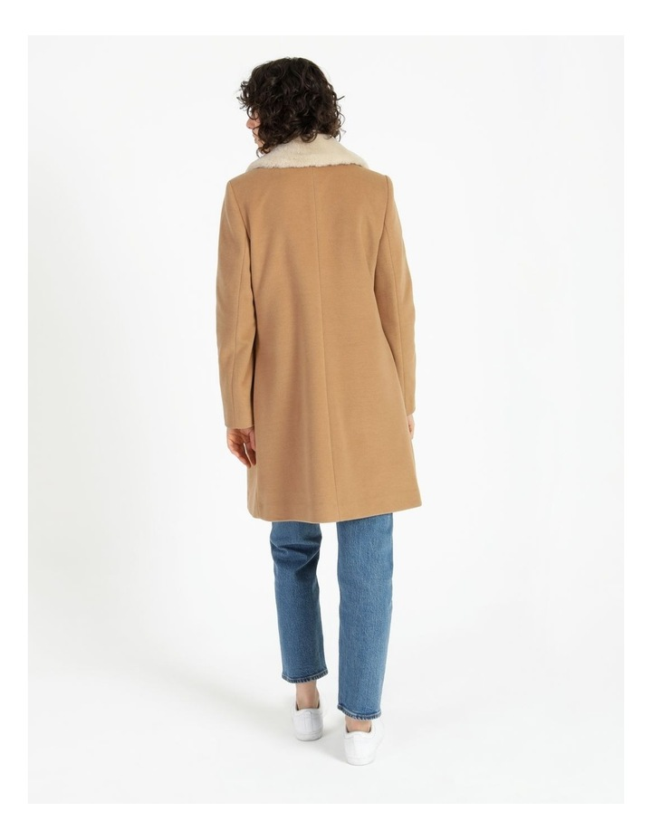 Camel Double Breasted Coat image 5