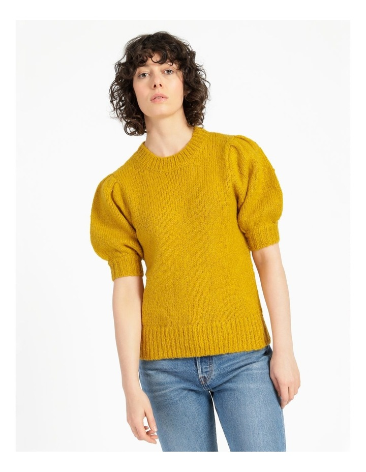 Statement Puff Sleeve Knit Top image 1
