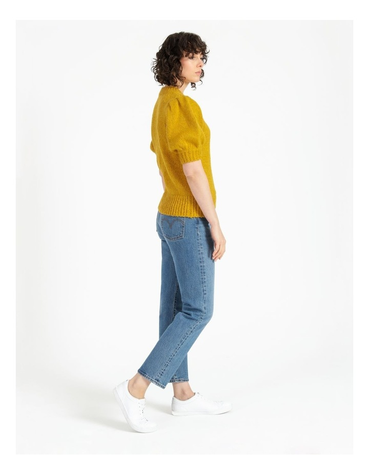 Statement Puff Sleeve Knit Top image 3