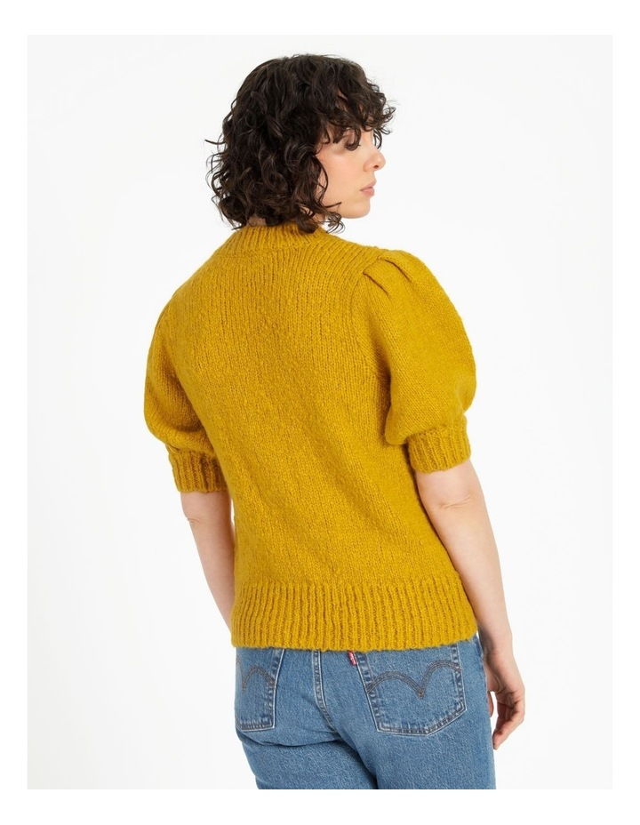 Statement Puff Sleeve Knit Top image 4