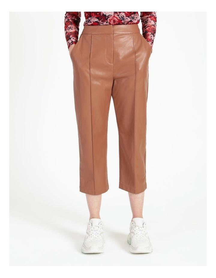Straight Leg Faux Leather Pants image 1