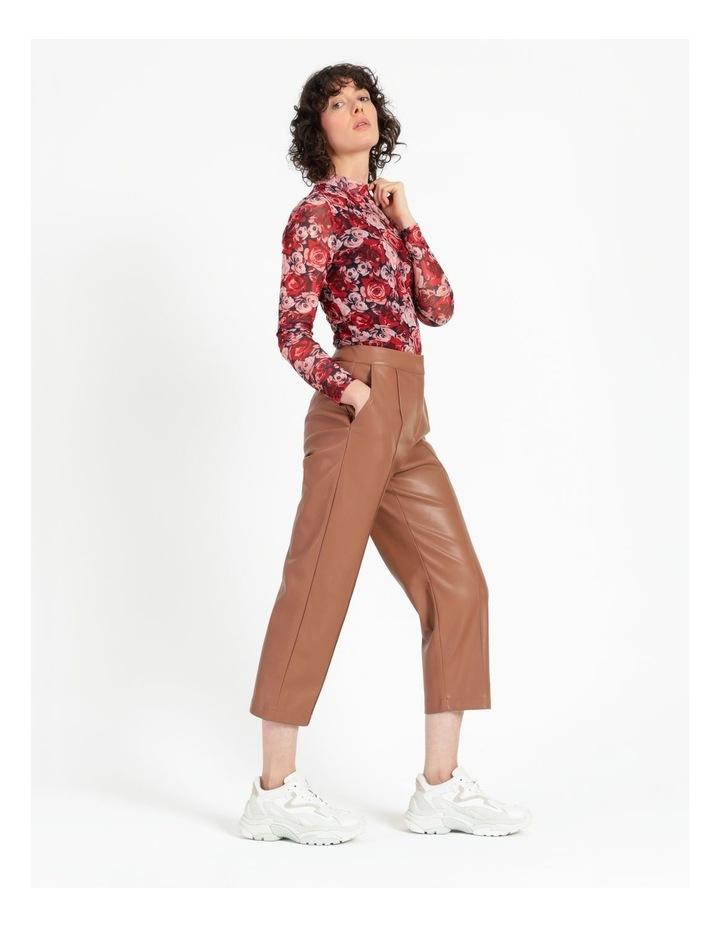 Straight Leg Faux Leather Pants image 3